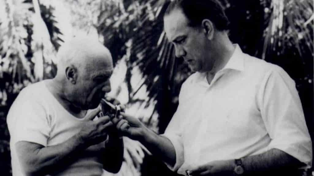 Camilo Jose Cela y Pablo Picasso