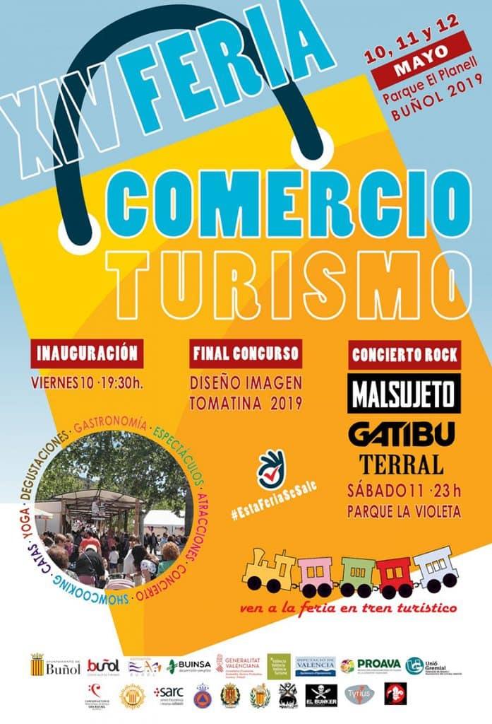 Cartel Feria Comercio y Turismo Buñol