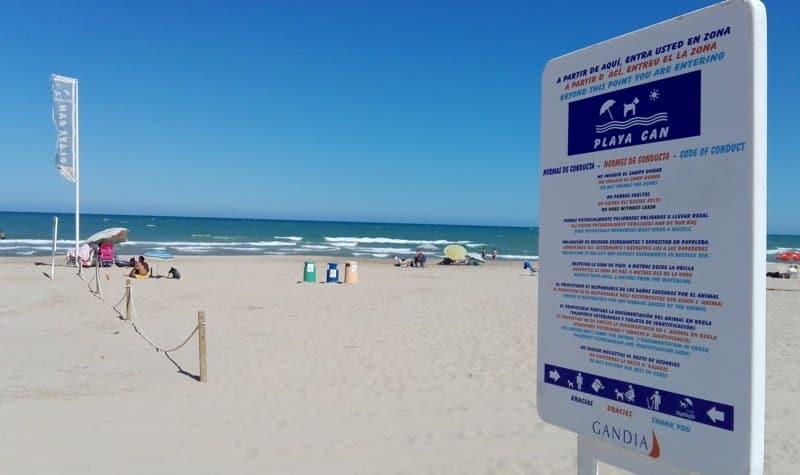 Playa de Gandia para perros