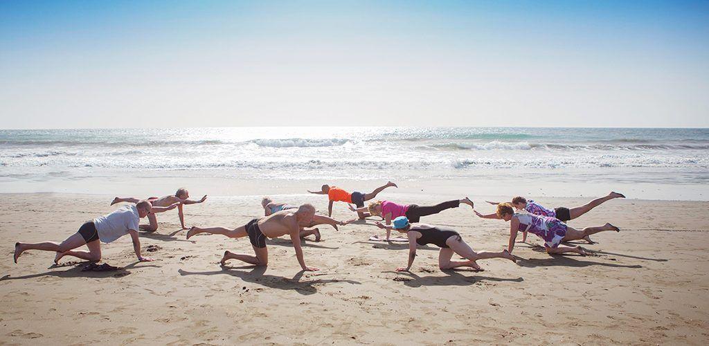 Pilates en la playa del Cabanyal