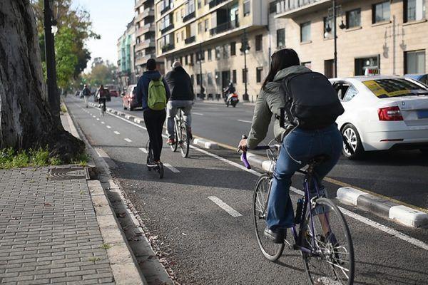 Carril bici en Valencia
