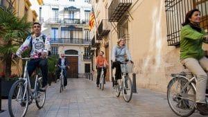 Centro histórico de Valencia en bicicleta