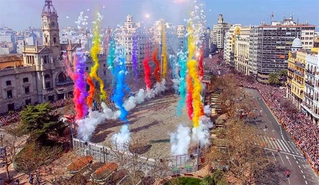 Mascletà en Fallas 2020