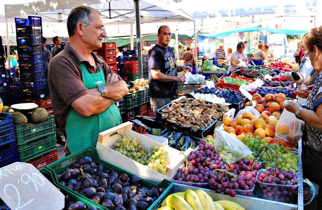 Mercado del viernes en Castellón