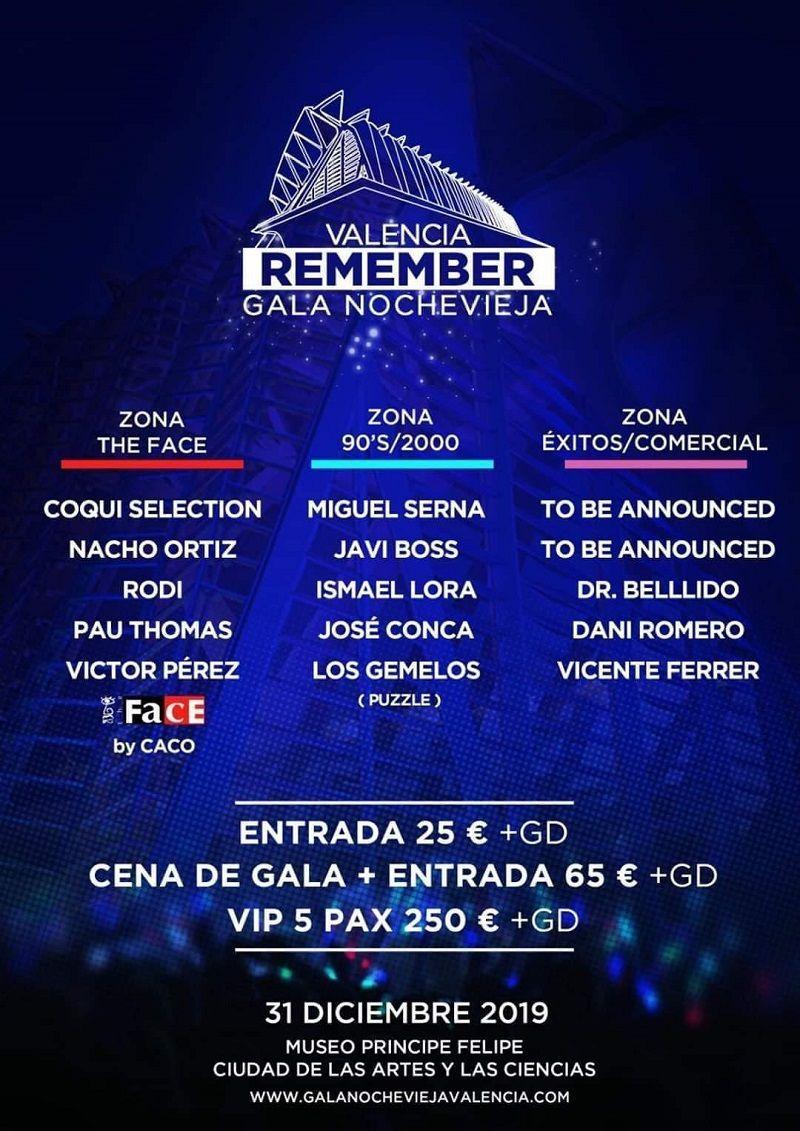 Gala Remember Nochevieja Valencia