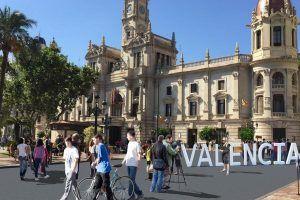 plaza del Ayuntamiento de València peatonal