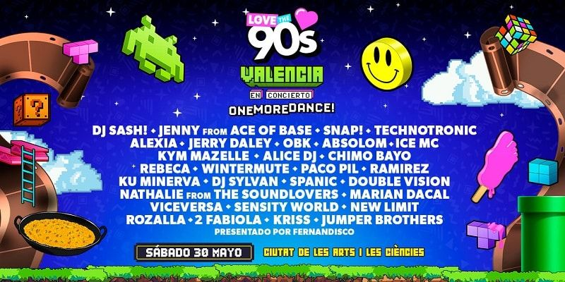 Artistas del Love The 90s Valencia