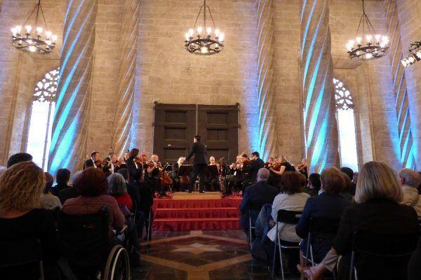 Concierto de la Orquesta de València en La Lonja