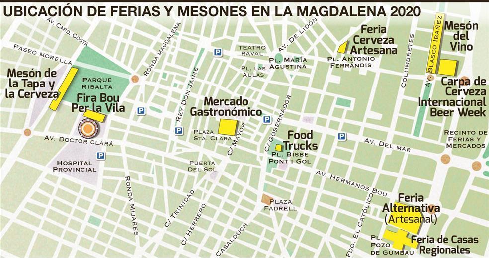 Ubicación ferias y mesones de la Magdalena 2020