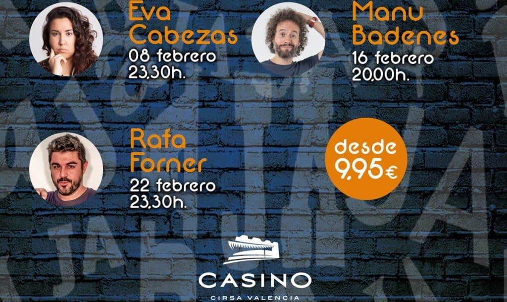 Monologos de febrero en el Casino Cirsa Valencia