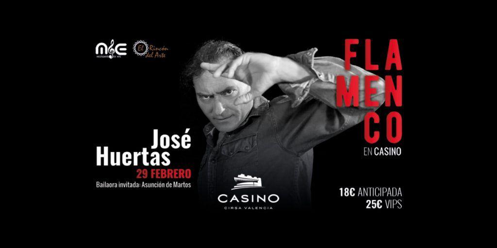 José Huertas en el Casino Cirsa Valencia