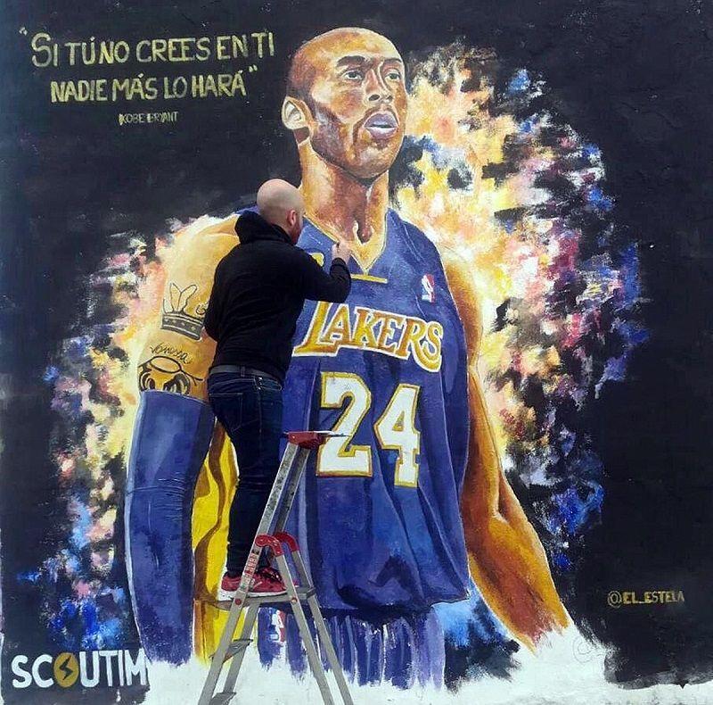 Mural completo de Kobe Bryant en València