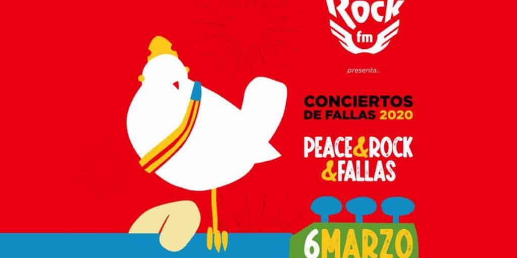 Peace, rock, fallas València