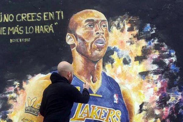 Mural de Kobe Bryant en València