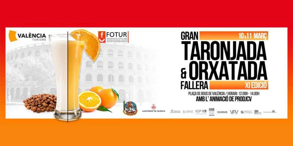 Zumo de naranja y horchata gratis en València