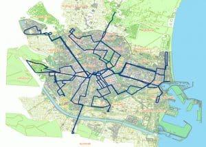 Mapa nocturno de la EMT Valencia